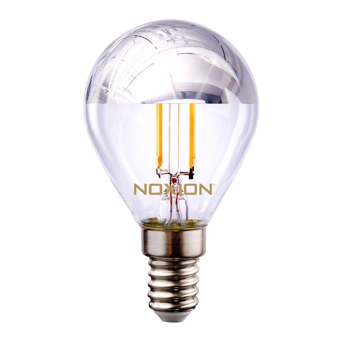 Noxion Lucent Fadenlampe LED Lustre Silber Spiegel P45 E14 220-240V 4.5W 400LM CRI80 2700K ND (40W eqv)