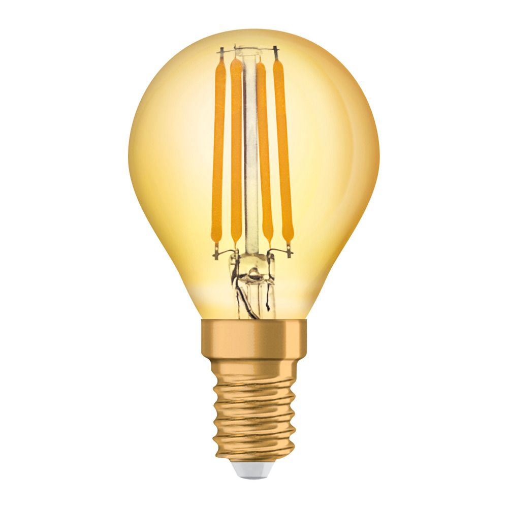 Osram Vintage 1906 LED Classic E14 P 4W 825 Fadenlampe Gold   Extra Warmweiß - Ersatz für 35W