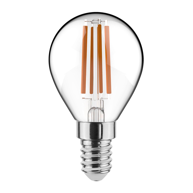 Noxion Lucent Fadenlampe LED Lustre 4.5W 827 P45 E14 Klar   Dimmbar - Extra Warmweiß - Ersatz für 40W