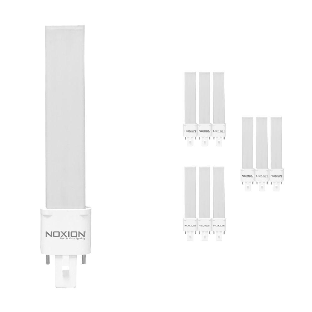 Mehrfachpackung 10x Noxion Lucent LED PL-S EM 4.5W 840   Kaltweiß - 2-Pins - Ersatz für 10W and 13W