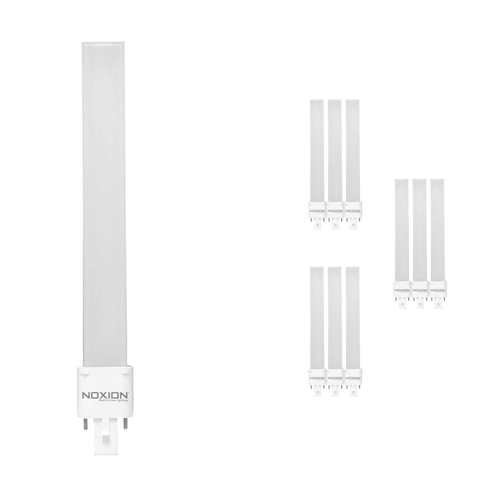 Mehrfachpackung 10x Noxion Lucent LED PL-S EM 6W 830 | Warmweiß - 2-Pins - Ersatz für 11W