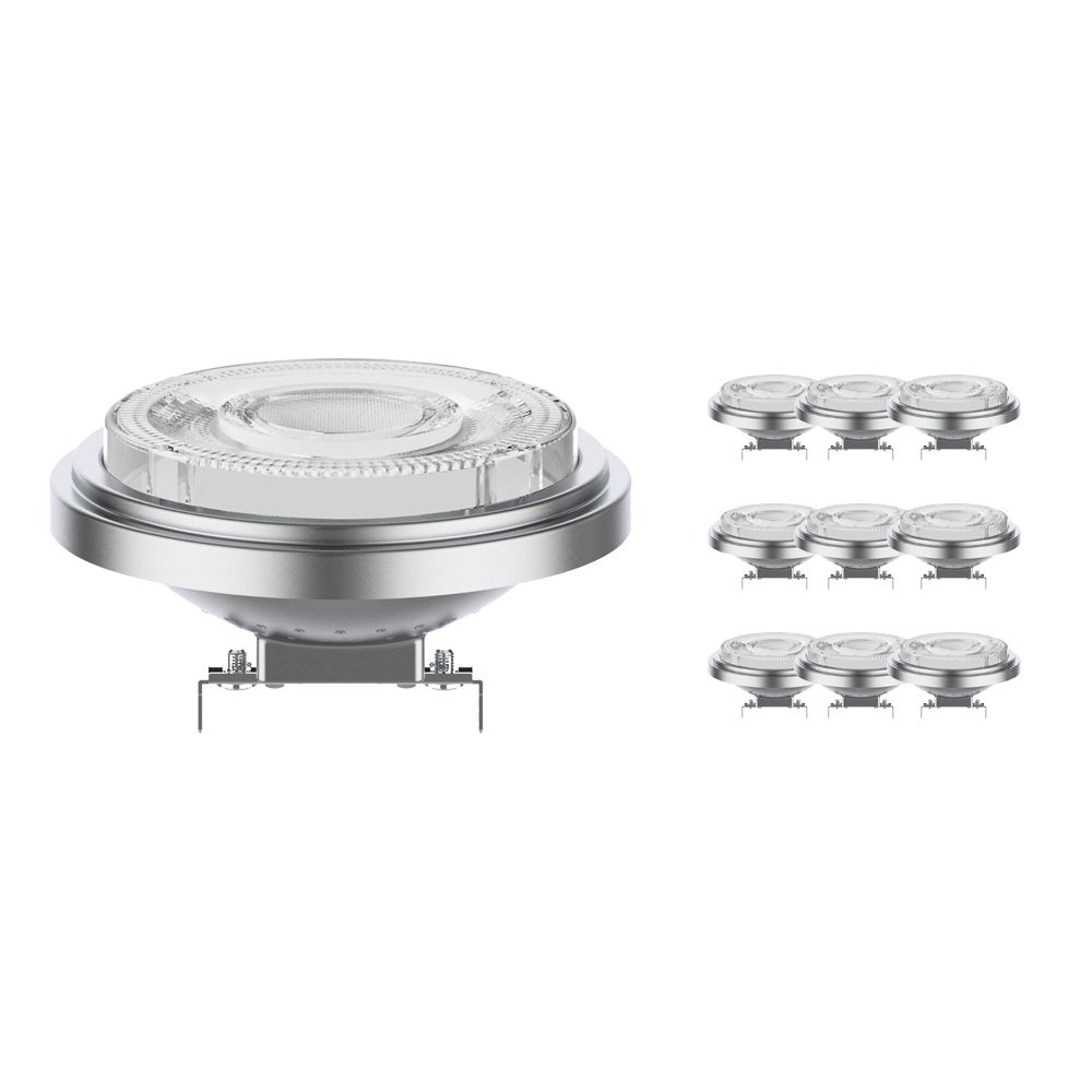 Mehrfachpackung 10x Noxion Lucent LED-Spot AR111 G53 12V 11.5W 930 24D | Dimmbar - Höchste Farbwiedergabe - Ersatz für 75W