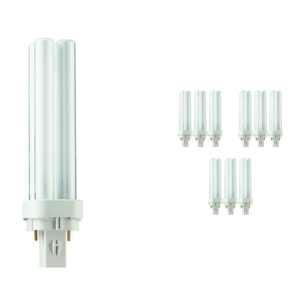 Mehrfachpackung 10x Philips PL-C 13W 827 2P (MASTER)   Extra Warmweiß - 2-Pins