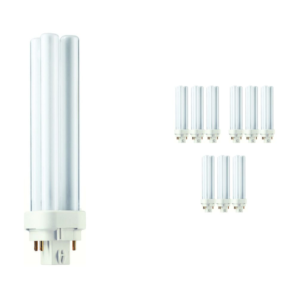 Mehrfachpackung 10x Philips PL-C 18W 827 4P (MASTER) | Extra Warmweiß - 4-Pins