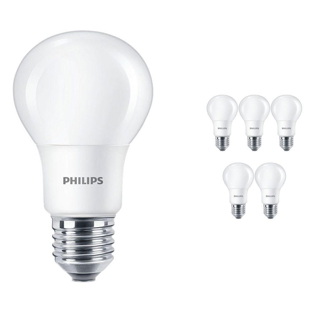 Mehrfachpackung 6x Philips CorePro LEDbulb E27 A60 5W 927 Matt | Höchste Farbwiedergabe - Extra Warmweiß - Dimmbar - Ersatz für 40W