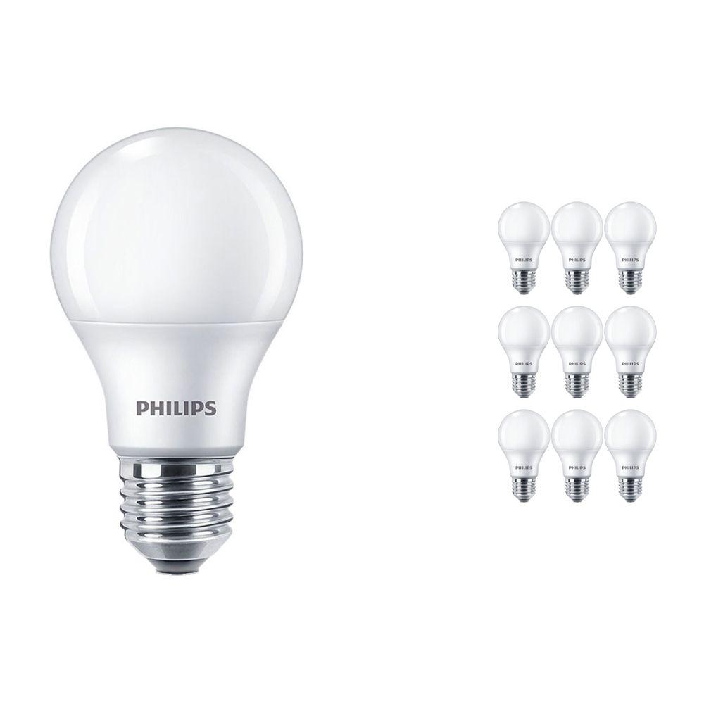 Mehrfachpackung 10x Philips CorePro LEDbulb E27 A60 8.5W 927 Matt | Höchste Farbwiedergabe - Extra Warmweiß - Dimmbar - Ersatz für 60W