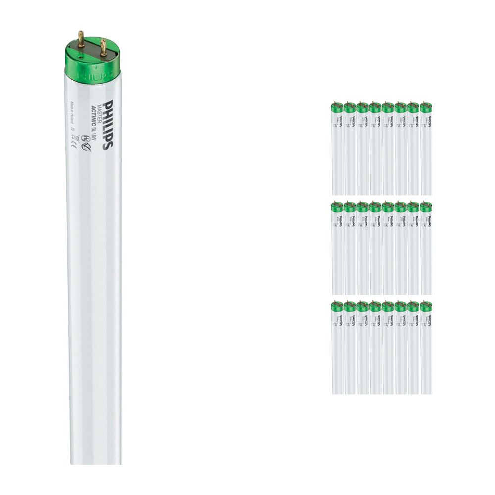 Mehrfachpackung 25x Philips TL-D 18W 10 Actinic BL (MASTER) | 59cm