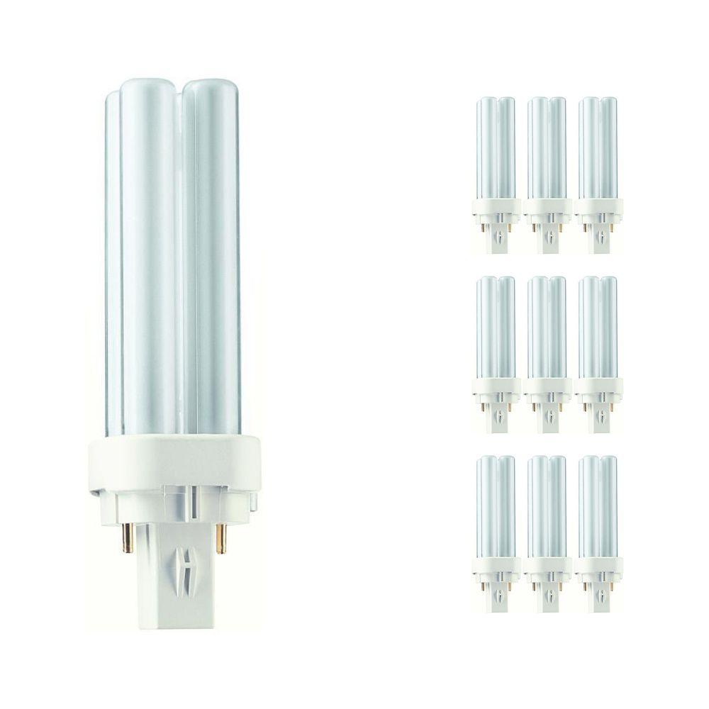 Mehrfachpackung 10x Philips PL-C 10W 840 2P (MASTER) | Kaltweiß - 2-Pins