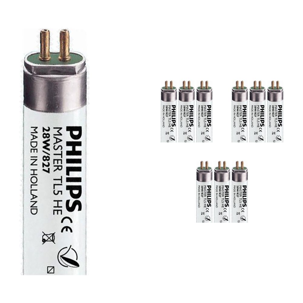 Mehrfachpackung 10x Philips TL5 HE 28W 827 (MASTER)   115cm - Extra Warmweiß