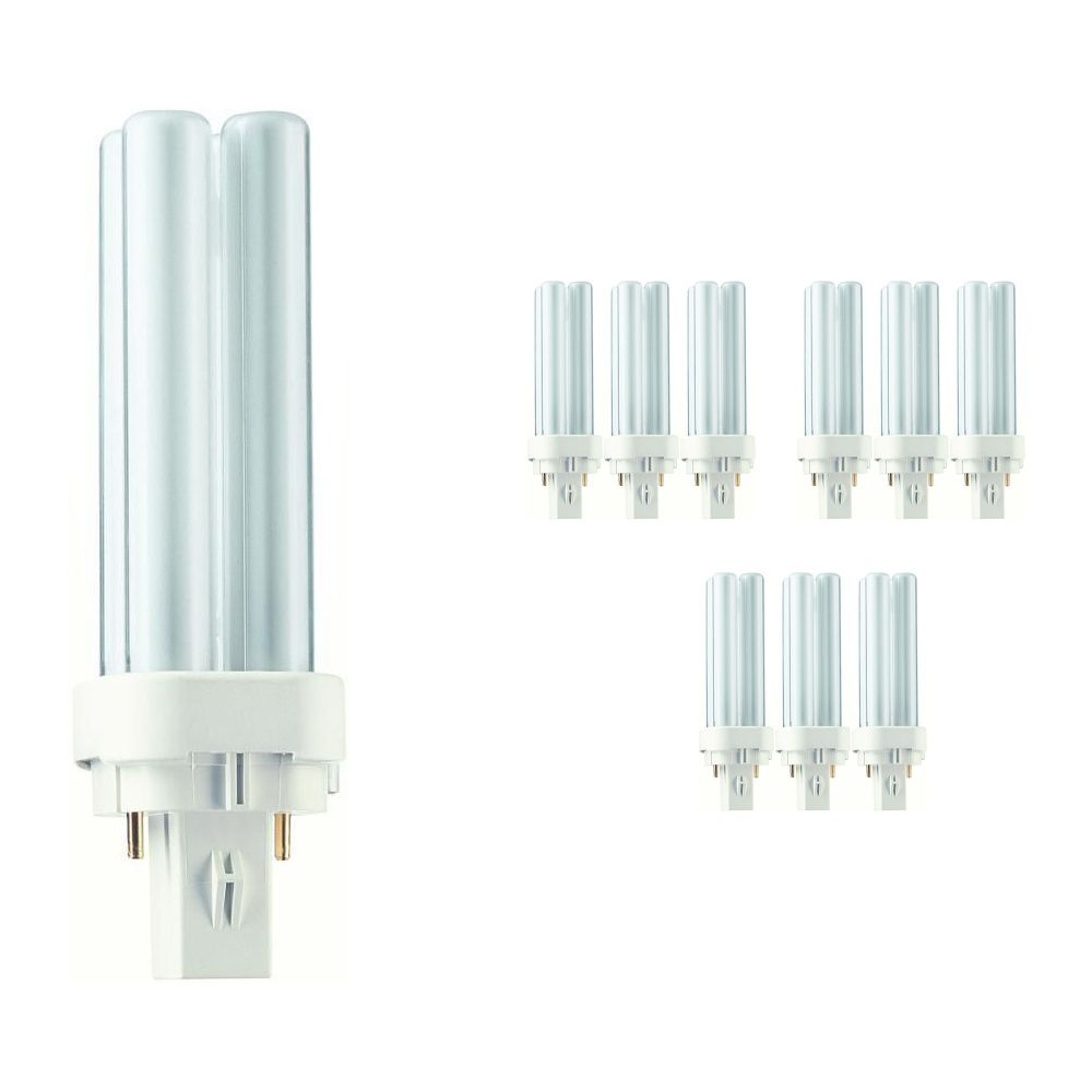 Mehrfachpackung 10x Philips PL-C 10W 827 2P (MASTER)   Extra Warmweiß - 2-Pins