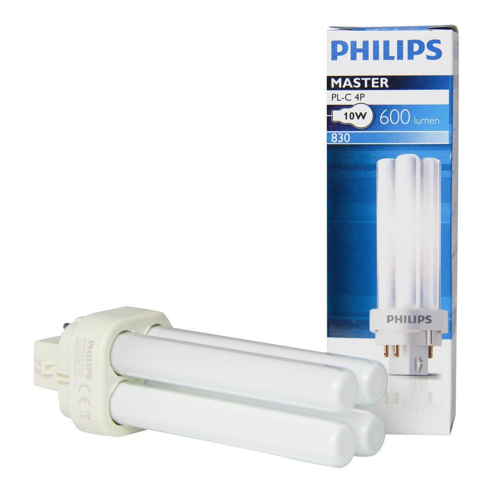 Philips PL-C 10W 830 4P (MASTER) | Warmweiß - 4-Stift