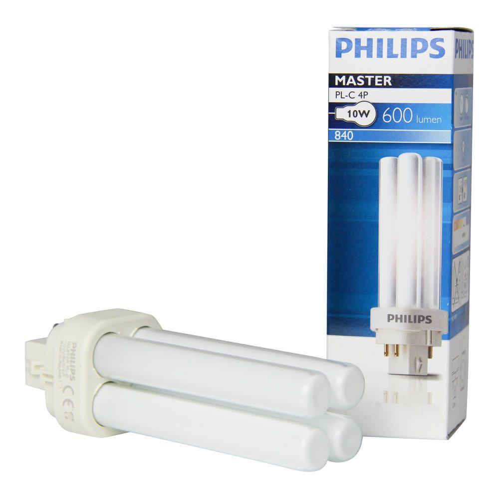 Philips PL-C 10W 840 4P (MASTER) | Kaltweiß - 4-Stift