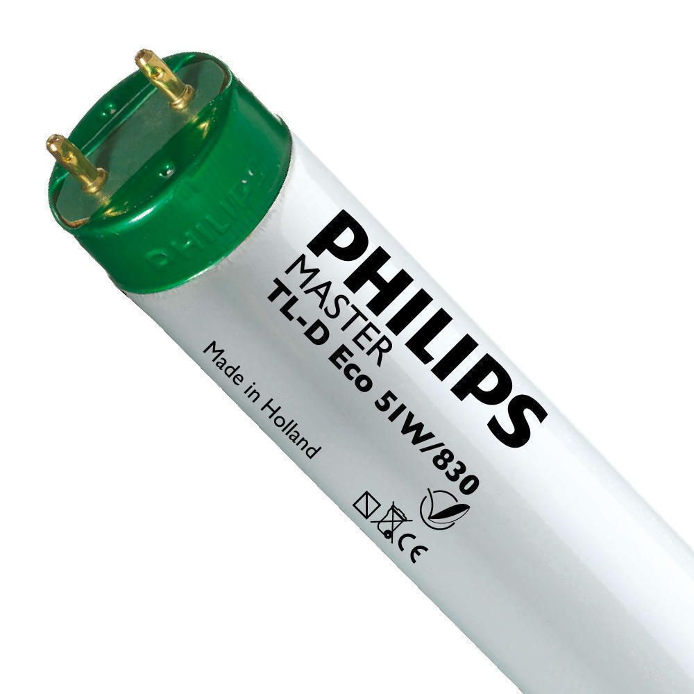 Philips TL-D Eco 51W 830 (MASTER) | 150cm - Warmweiß