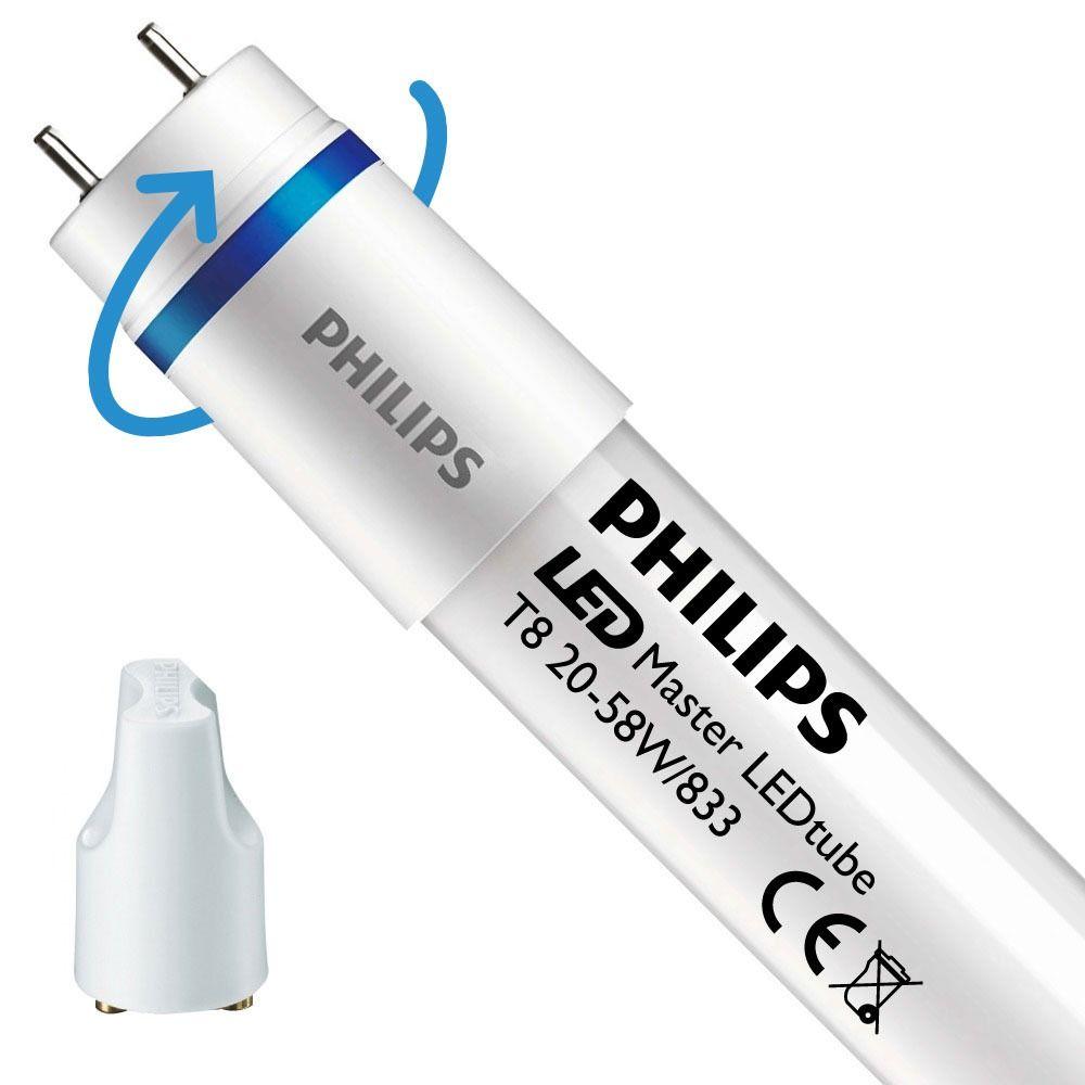 Philips LEDtube EM SO 20W 833 150cm (MASTER) | Food - inkl. LED Starter - Ersetzt 58W - Drehbar