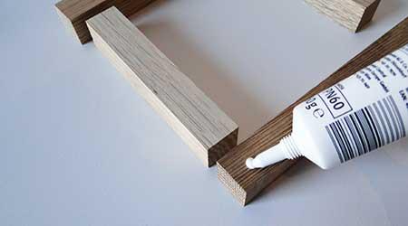 Leisten mit Holzleim zusammenfügen
