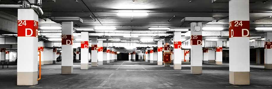 Parkhausbeleuchtung mit LED