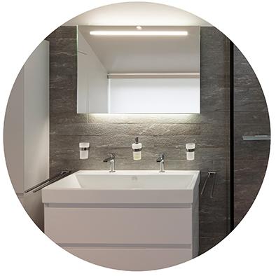 Spiegelleuchten im Badezimmer