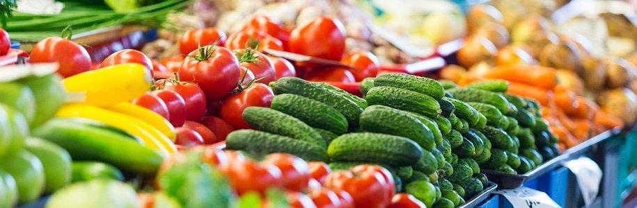 Beleuchtung Obst- und Gemüseauslage