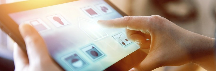 Smart-Lighting-Steuerung über Tablet