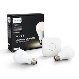 Philips Hue Smart Home LED Starter Kit   Bridge + 2x E27 LEDbulb Weiß 2700K   Dimmbar