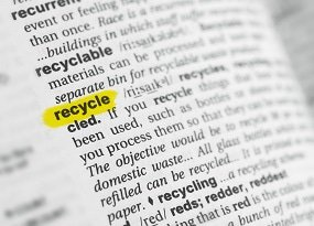 Recycling im Wörterbuch