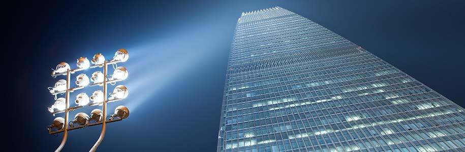 Gebäudebeleuchtung LED-Flutlicht