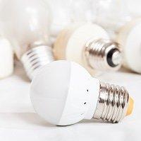 LED mit hellem Hintergrund