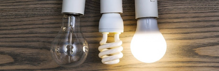 Drei Lampen im Vergleich