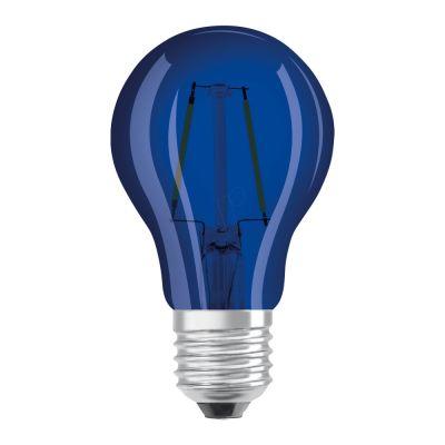 Osram LED STAR DECO Classic A Color E27 2.5W Blau Klar | Ersatz für 15W