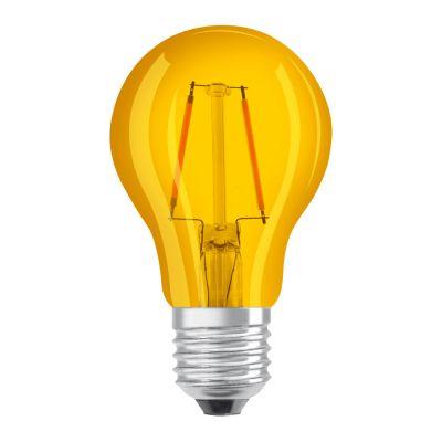Osram LED STAR DECO Classic A Color E27 2.5W Gelb Klar | Ersatz für 15W