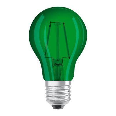 Osram LED STAR DECO Classic A Color E27 2.5W Grün Klar | Ersatz für 15W