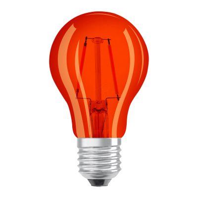 Osram LED STAR DECO Classic A Color E27 2.5W Orange Klar | Ersatz für 15W