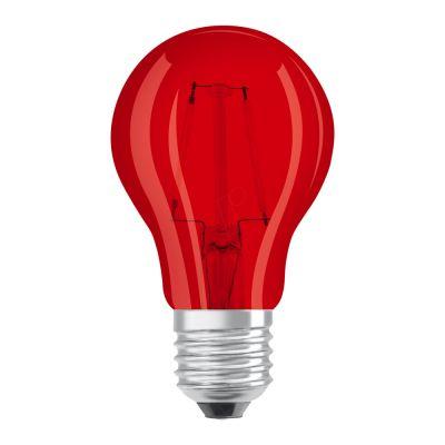 Osram LED STAR DECO Classic A Color E27 2.5W Rot Klar | Ersatz für 15W