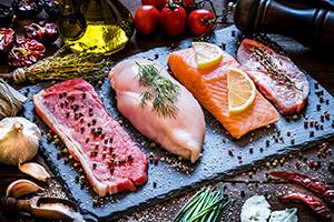 Fleisch und Fisch im Supermarkt richtig beleuchten