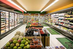 Supermarktbeleuchtung für Regale